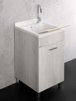 Lavatoio Unika 45x50 con vasca in ABS